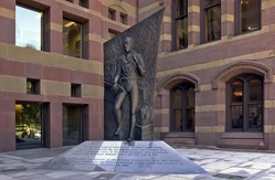 Statue in front of New Haven City Hall.