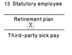 statutory employee, retirement plan or third-party sick pay. For Yale employees, the retirement box is checked if you are eligible for any University paid retirement plan or you have participated in a salary reduction arrangement under 403(b) or 457.