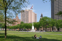 Summer on the New Haven Green.