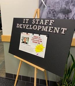 IT Staff Development team hosts the Tech Talk learning sessions on a wide variety of topics targeted toward IT professionals.