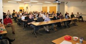 The room was packed for the Tech Talk presentation.