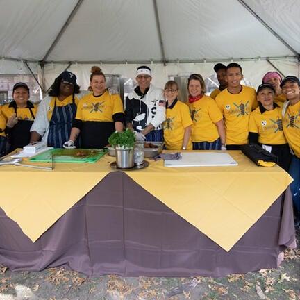 Hospitality staff at Fall Festival