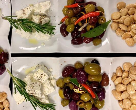 Feta, olives, marcona almonds