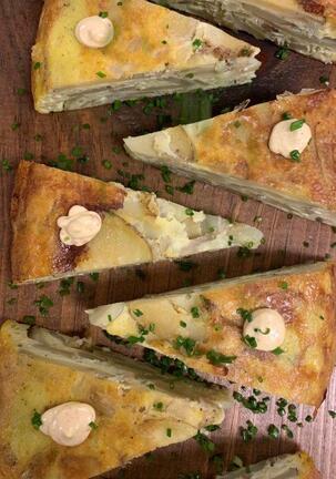 Tortilla Espanola Espellete Aioli