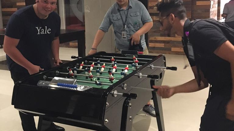 Taking a foosball break