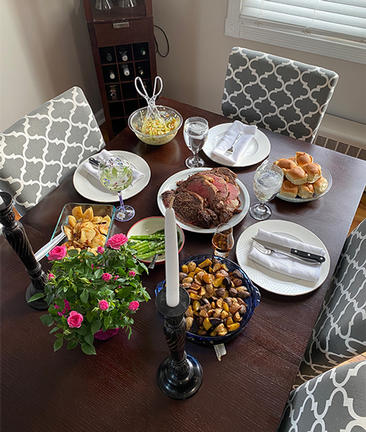 Jodie Paul-Arndt made her family a wonderful Easter dinner.