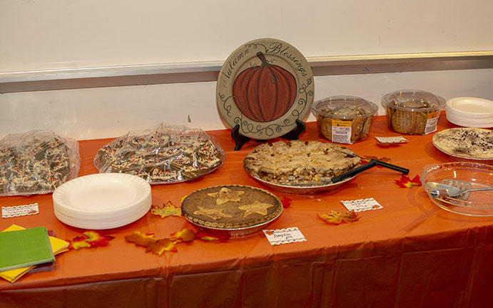 A table featuring some delicious deserts.