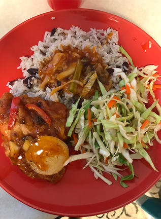 Xaviera Jackson's delicious sweet and sour chicken dish.