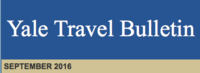 Yale Travel Bulletin September 2016 Issue