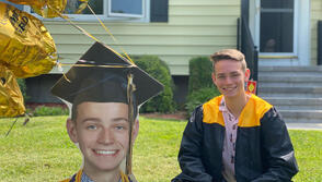 JIll Westgard, Development, sent this in of son Henry, who has graduated from Amity Regional High School