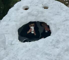 Kristin Jones, Office of Development, shared this igloo fun.