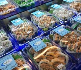 Prepackaged sushi