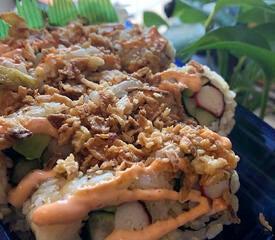 Beautiful sushi display